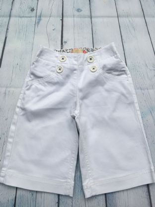 Mini Boden white long shorts with buttons age 5 (fits age 4-5)